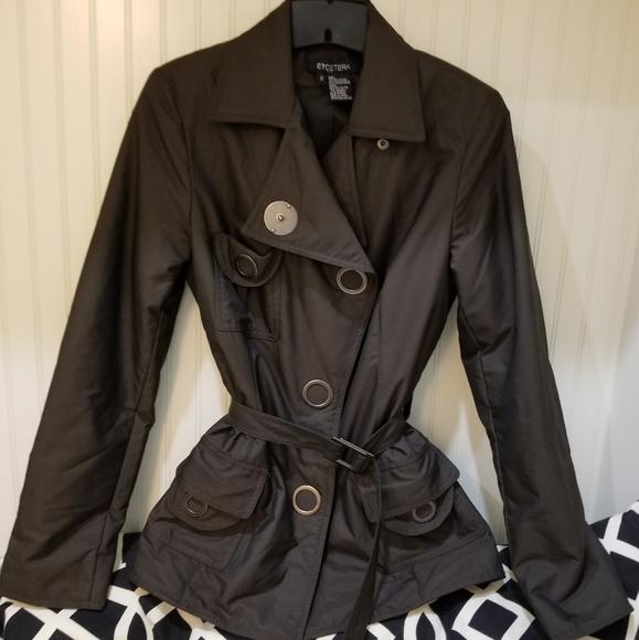 Carlisle Jackets & Blazers - Etcetera brown trench jacket